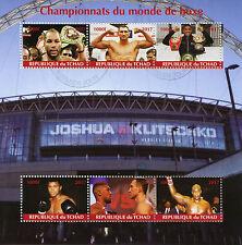 Chad 2017 CTO Boxing Champions of World Muhammad Ali Klitschko 6v M/S Stamps