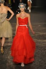 SOLD OUT INCREDIBLE RED WEDDING DRESS VIVIENNE WESTWOOD GOLD LABEL 36FR 40IT