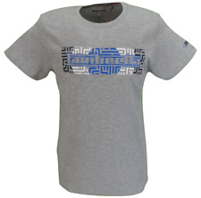 Lambretta Mens Grey Target Logo 100% Cotton T Shirt …