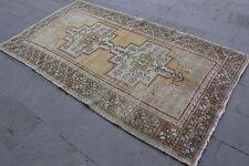 """Turkish Vintage Handmade Anatolian Muted Multicolor Area Rug Carpet  97""""x53"""""""
