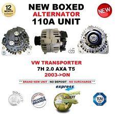 FOR VW TRANSPORTER 7H 2.0 AXA T5 2003-ON NEW 110A ALTERNATOR UNIT OE QUALITY