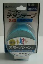 Phiten Titanium X30 Turquoise Athletic Sport KinesiologyTherapeutic Roll Tape