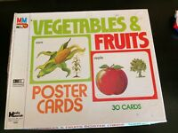 Media Materials Brand 7532 Vegetable & Fruits Poster Cards Complete Educational