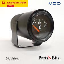 VDO 24v 52mm VISION FUEL GAUGE with POD HOLDER AUTOMOTIVE BRAND NEW..!