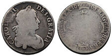 Charles II crown 1668/5 Great Britain silver coin rare