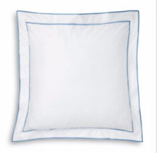 Ralph Lauren Norport Border Meadow Lane Euro pillow Sham White Blue retail $215