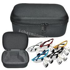 Black Portable Zipper Cloth Bag Box Carry Case for Dental Surgical loupes