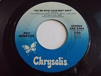 Pat Benatar Hit Me With Your Best Shot / Prisoner Of Love 45 1980 Vinyl Record