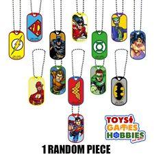 Justice League Dog Tag Necklace Birthday Party Favor Batman DC Comic Super Hero