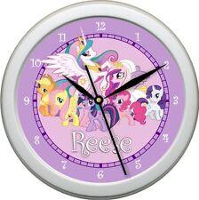 Personalized My Little Pony  Girls Wall Clock bedroom or Nursery Decor