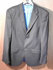 Mens Black & Bronze striped fully tailored & lined Jacket Size 40 (large)