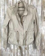 Anthropologie Daughters of the Liberation Beige Utility Zip Jacket Coat 6 M Med