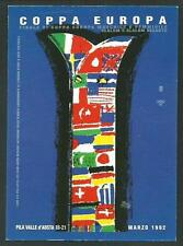 Pila ( Valle d'Aosta ) :1992  Finale Coppa Europa Slalom - cartolina