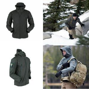 Mens Waterproof Military Parka Sherpa Jacket Hooded Outdoor Winter Tactical Coat