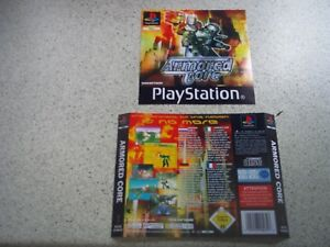 Armored Core PAL Playstation 1( PS1) Replacement Box Art Sleeve/ Inlay  Only.
