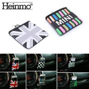 Union Jack Auto Air Vent Outlet Phone Holder Pocket Storage Bags For Mini Cooper