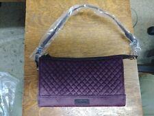 Vera Bradley Iconic RFID SLIM WRISTLET Blackberry Wine Handbag Velvet-NWT