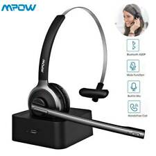Mpow Bluetooth Headset Wireless Over Head Headphone With Mic Business Driver