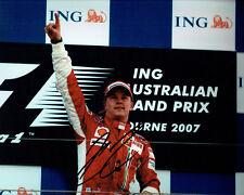 Kimi RAIKKONEN SIGNED Ferrari Australian F1 Autograph 10x8 Photo AFTAL COA RARE