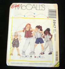 McCalls Pattern #5947 Children's Top & Pants Shorts or Bloomers Size CD 2,3,4