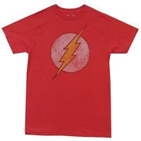 The Flash Distressed Logo DC Comics Premium Licensed Adult T Shirt