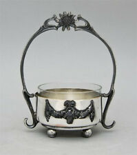Antique Polish Warsaw Art Nouveau Kummer Marked SilverPlated Centerpiece, Liner