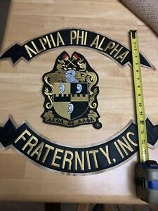 New Alpha Phi Alpha Top/Bottom/Center Shield Patches