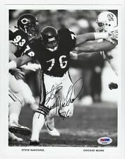 PSA/DNA Certified Steve McMichael Signed Photograph 8x10 B&W CHICAGO BEARS w/COA