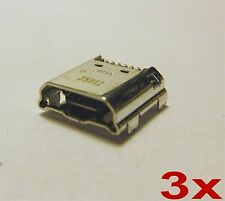 x3 Samsung Galaxy Tab 4 Micro USB Charging Port Dock Connector for SM-T230 T231