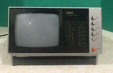 Vintage Portable RCA Black And White TV/Radio AM/FM Model BWT050S