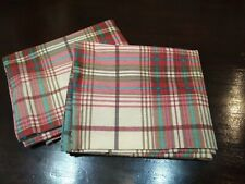 Standard Plaid Cotton Flannel Eddie Bauer Pillowcases New