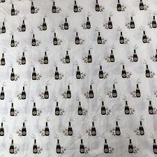 Martha Stewart KING Size FLAT Sheet Only Champagne Celebration 100% Cotton