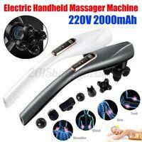 Kabellos Elektrisch Infrarot Massagegerät Hand Perkussion Maschine Körper Pain H