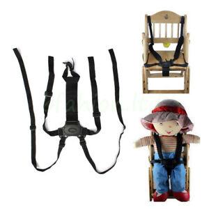 UK 5Point Baby Kids Safety Seat Belt Strap Portable For Stroller High Chair Pram