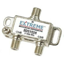 2 NEW Extreme Broadband BDS102H 2-way Digital High Perform Coax Cable Splitter