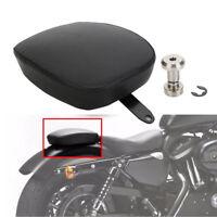Black Rear Passenger Seat Pillion Pad for Harley Sportster XL1200/883