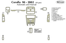TOYOTA COROLLA 1998 1999 2000 2001 2002 DASH TRIM KIT