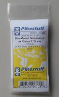 72 HO Passenger Coach Seats Blue 1:87 SCALE TRAIN LAYOUT DIORAMA Pikestuff 4103