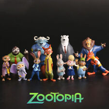 12Pcs Disney Zootopia Judy Nick Action Figures Figurines Toy Cake Topper Decor