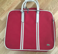Lacoste Over Night bag / Suitcase / Hold-all Red And Cream - Vintage