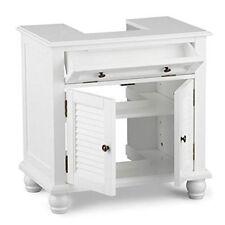 Under Pedestal Sink Storage Space Saver Organizer Shelf Vanity Bathroom Cabinet