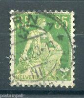 SUISSE, SCHWEIZ, 1907-17, timbre CLASSIQUE n° 122, HELVETIA, oblitéré