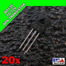 20x BD135 TO-126 Silicon NPN Transistor 45V 1.5A SOT-32 US SELLER 20pcs Y31