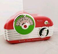 2013 Hallmark North Pole Countdown Vintage Radio Light Sound & Motion Rare