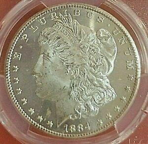 Rare! 1884CCPCGS MS64DMPL Deep Mirror Prooflike Carson City Morgan Silver Dollar