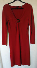 BCBG MAXAZRIA long Sleeve Buckle Front Dress Size L