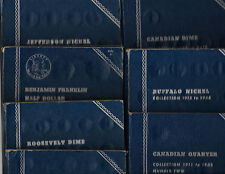 10 Diff. Used Whitman Coin Folders