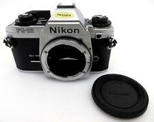 Nikon FG 20 SLR cámara body 3012828 Chrome je055
