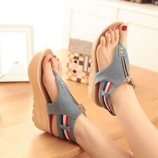 Damen Flip flop Sandalen Kaucal Denim Schuhe Größe 34-39 Blau Sommer Shoes bilig