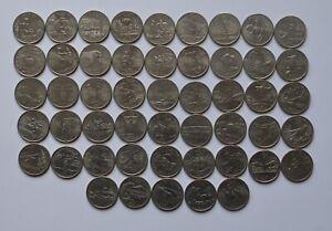 USA State Quarter dollar FULL Complete Set 50 Coins US America Denver (D) Mint